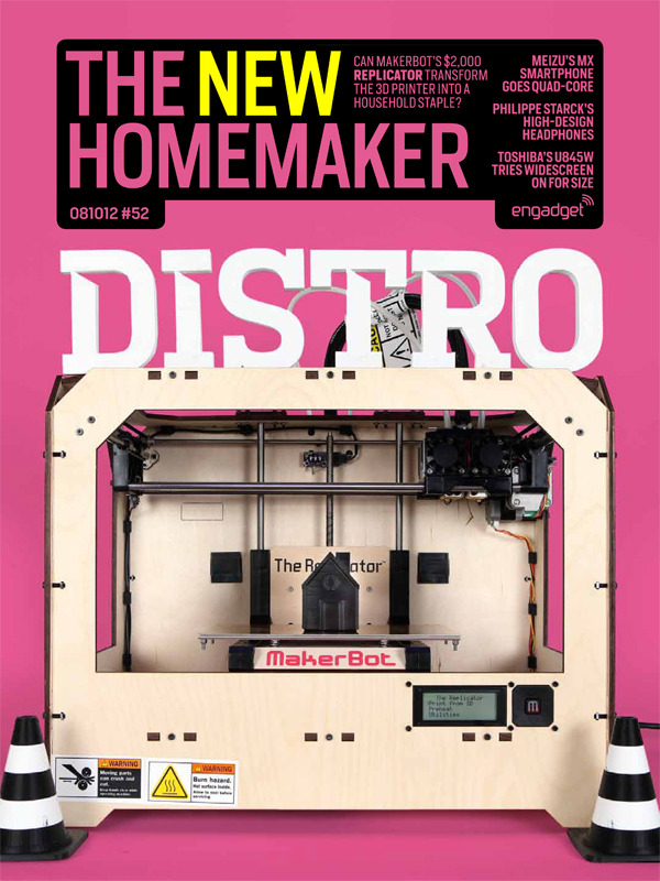 "Engadget Distro / Issue 52 / Cover by Greg Grabowy / MakerBot ""The New HomeMaker"""