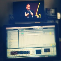 Bangin out some Steve Harvey while workin on a new instrumental (Taken with Instagram)