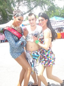 Me with some very lovely ladies at the St. Petersburg Fl Pride Parade, summer of 2011. They were so pretty ;A;