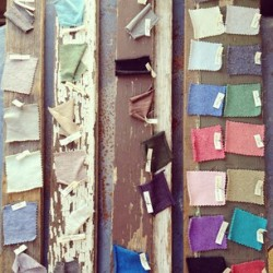 Colorful fabric swatches in our L.A. Design Lab