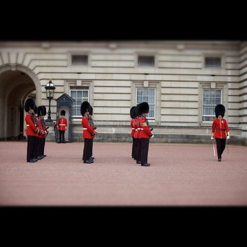 The changing of the guards ceremony begins - photo by @RageOneMedia (Karl Ferguson) #buckinghampalace #london  (Taken with Instagram)
