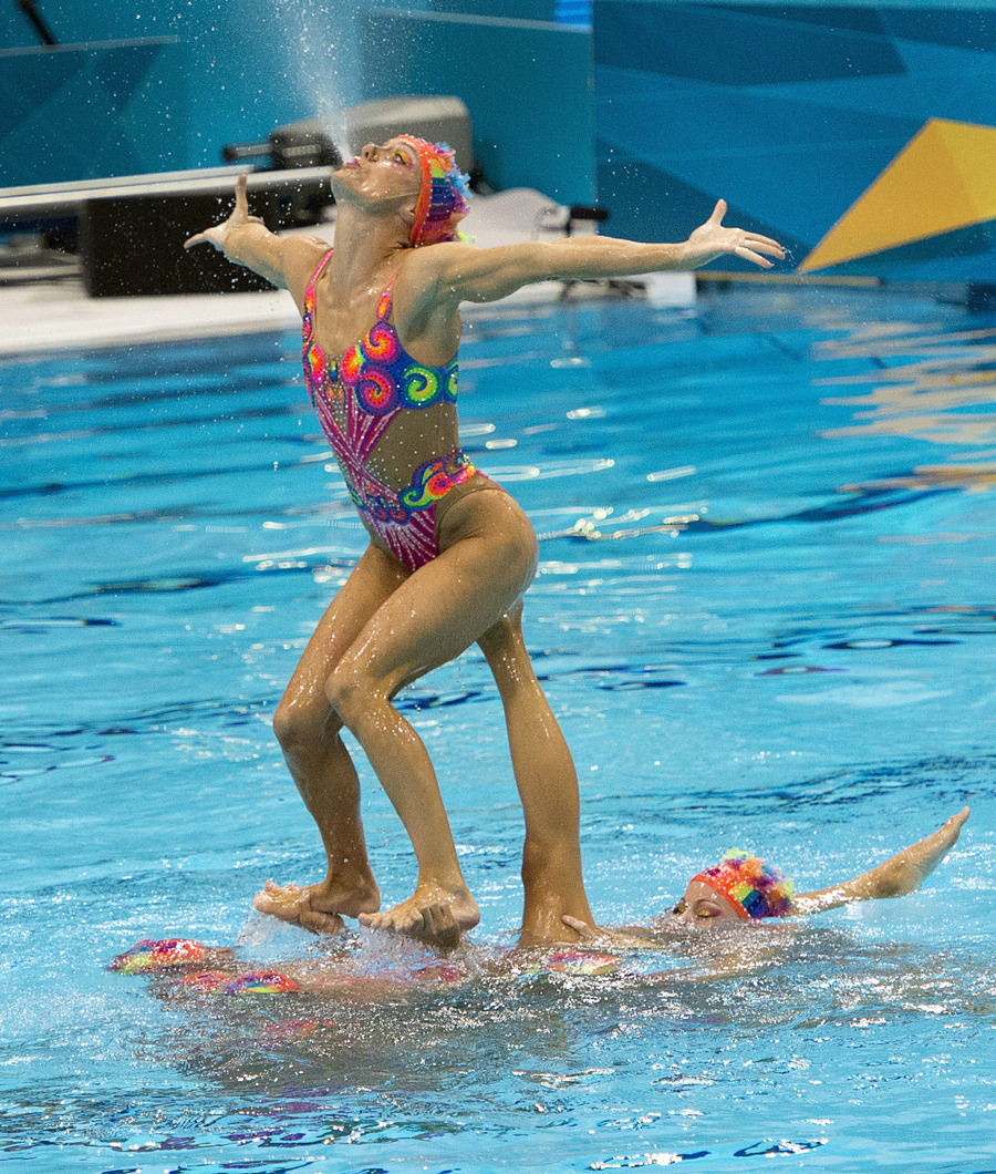 nationalpostsports:  Canada misses the podium in Olympic synchronized swimming(Photo: Ryan Remiorz/The Canadian Press)
