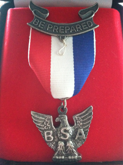 I'm joining the Eagle Scout protest and am sending this medal back to headquarters to protest the BSA's discriminatory stance against homosexuality.