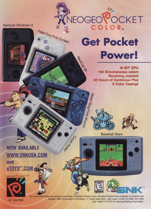 Neo Geo Pocket Color advert.