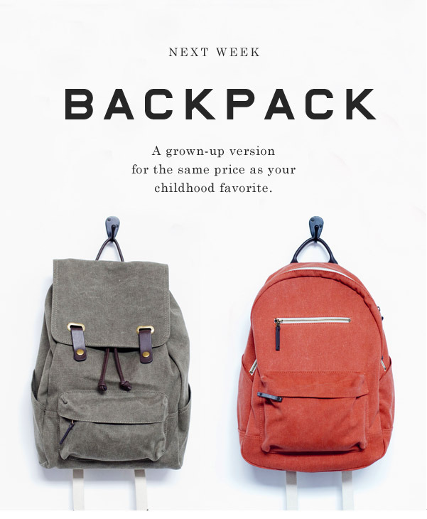 everlane:  The new Backpack. Two style, four colors.
