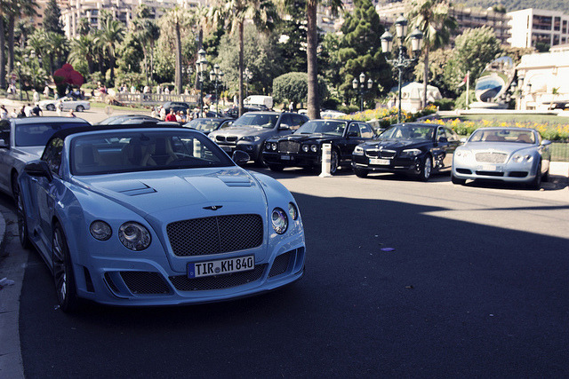 2 x blue Bentley on Flickr.