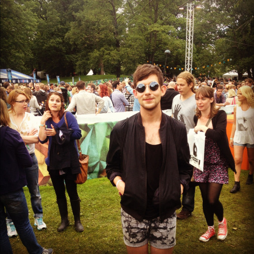 Say hi to another festival visitor!   Martin, 21, Stockholm/Gothenburg. DJ and freelance stylist assistant.  Why Way out West? It was a spontaneous decision cause I got a cheap ticket and I think its amazing here. I like that all food are vegetarian since I haven't eaten meat for the last 7 years.  What band won't you miss? Frank Ocean and Florence + the Machine. They make fantastic music and I love them!  How should people dress on festivals? Comfortable and like they want. And remember don't dress to warm cause then you won't get sweaty while raving on all the concerts!