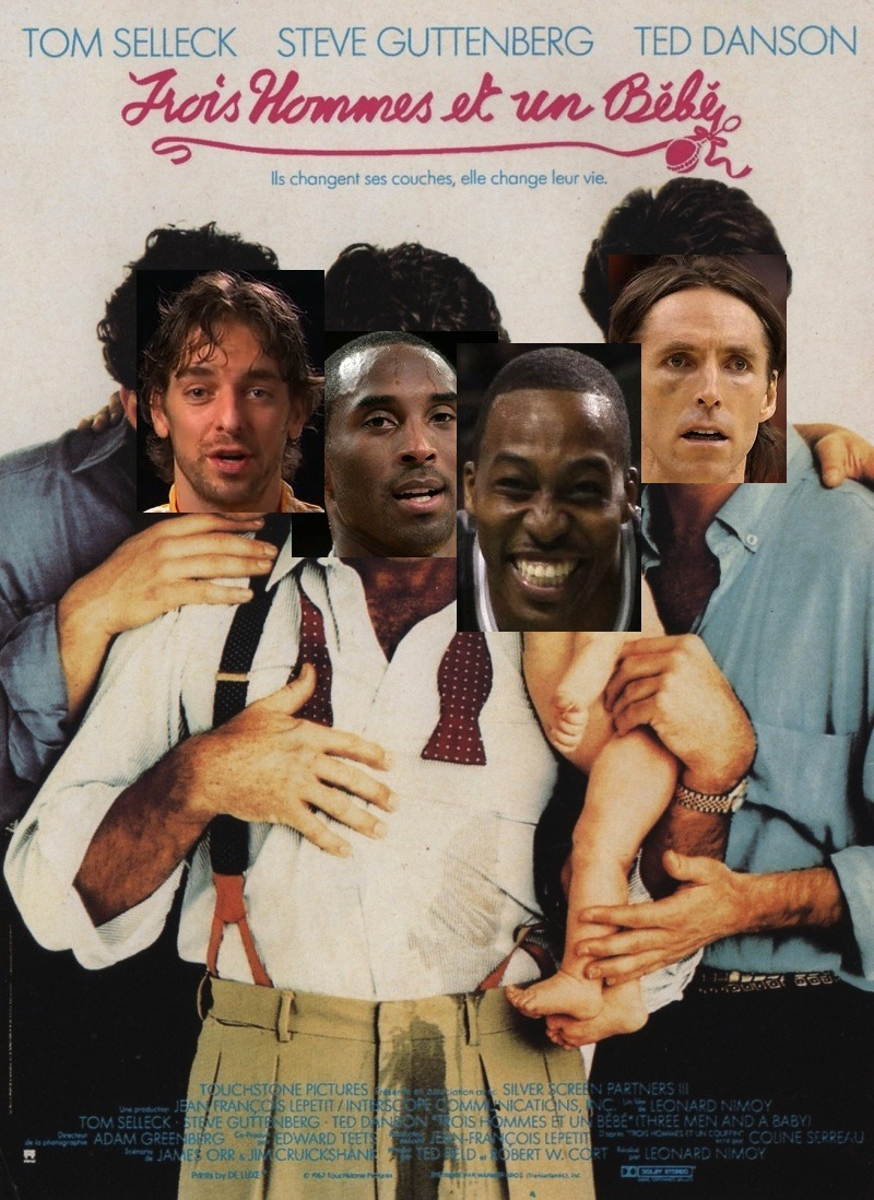 """3 Men and a Baby"" - Lakers Edition"