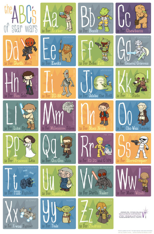 star wars alphabet by *katiecandraw