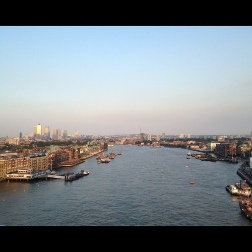 gqfashion:  View of the River Thames from the top of Tower Bridge in London. Pretty nice. Ts (Taken with Instagram)