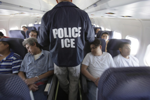 humanrightswatch:  Many detained immigrants facing deportation from the US are woken up in the middle of the night and put on airplanes. Their destination: deportation centers hundreds of miles away – far from the moral support of their families and communities. Hundreds of thousands of detainees are transferred each year, although in many cases it puts their lawyers out of reach and leaves behind their character witnesses. Commonly, detainees are transferred to states that don't have enough immigration attorneys to take their cases. It can make building a legal defense against deportation seem impossible. But after three years of work by Human Rights Watch, the US Immigration and Customs Enforcement (ICE) has adopted a new policy that could substantially reduce the number of transfers, giving immigrants a fairer chance. Read more after the jump.