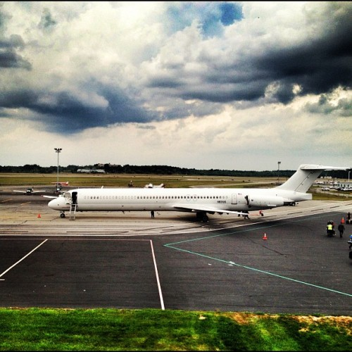 Delayed (Romney plane, Belmont MA) (Taken with Instagram)