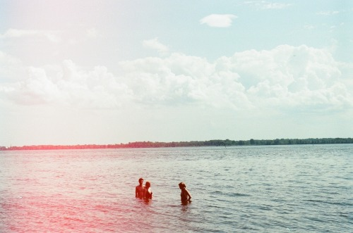 Swimming in the Lachine. Montreal, 2011. (Developed a roll that had been sitting in my camera. Discovered it had been there since last summer.)