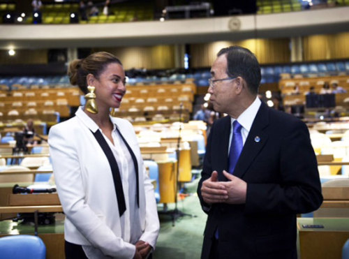 Beyonce wears some serious ear candy while visiting the United Nations. Check out the full story here!