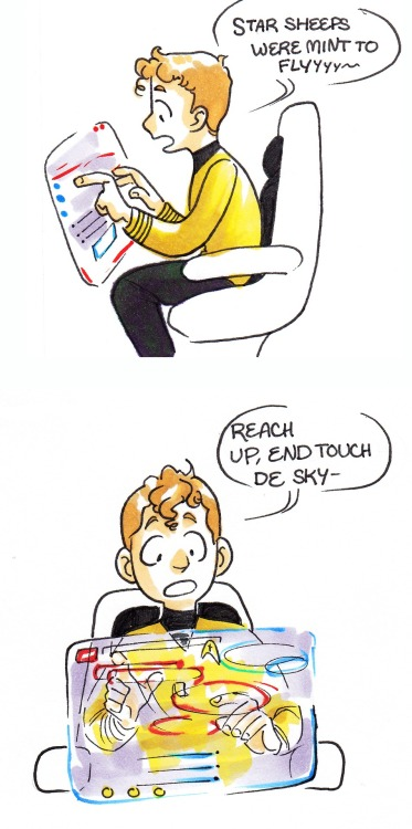 fabledquill:  baby chekov is best chekov. and baby chekov loves retro music aka nicki minaj.