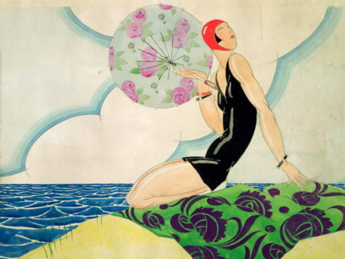hoodoothatvoodoo:  Rene Vincent Bather 1925