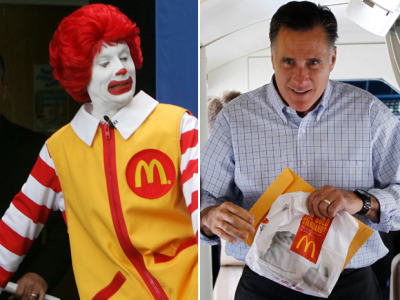 Meet Mitt Romney, McPlutocratWhat better symbol is there of the two-tiered system — which people like Romney deny the existence of — than one of the richest men in America getting his Big Macs for free?