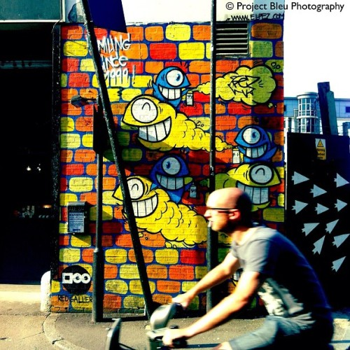 Ride On #projectbleu #london #london2012 #streetart  (Taken with Instagram at Old Street)