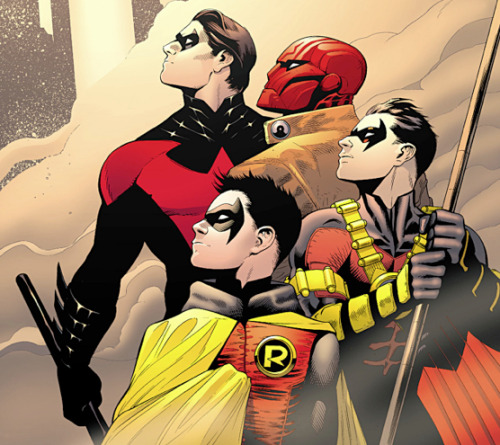 Nightwing, The Red Hood, Red Robin, Robin