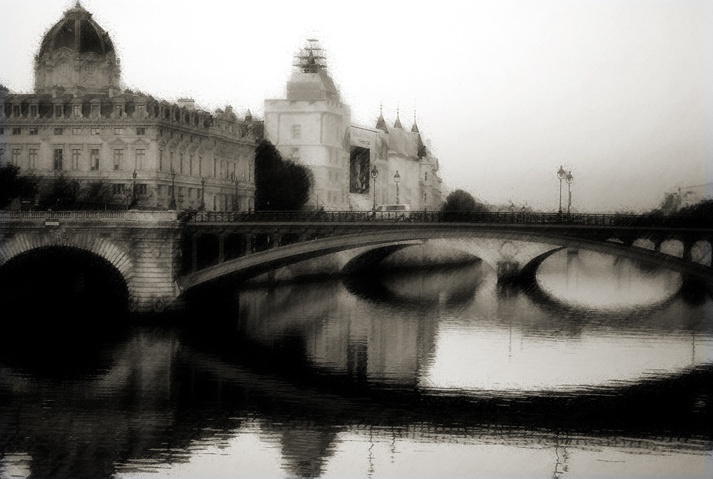 Bridges over the Seine by   Manolis Spanakis