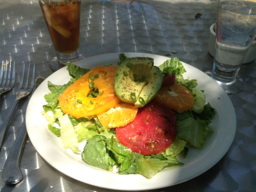 Avocado and heirloom tomato salad at Oseria Fasulo, which CAV had recommended to me as the best restaurant in Davis. Mmmmm!