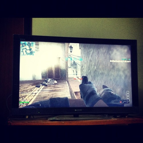 "Playing call of duty with my lil bro is such a big mistake !!!! #PS3 #playing #games -_-"" (Taken with Instagram)"