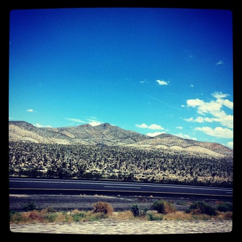Less than 100 miles out from #vegas ! #happybirthday @mijerr 😄🎁🎉 #photography #instagood #instadaily #partytime #almostthere #happiness  (Taken with Instagram)