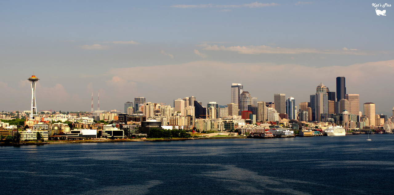 Another Seattle Skyline on Flickr. Via Flickr:Katheryn's Gallery *|* Tumblr *|* Facebook *|* 500px *|* TwitterView on black please! Another Seattle Skyline; this one was taken from the cruise ship as we left the bay.