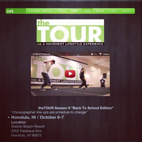 shaunevaristo:  TheTOUR season 2!!! Back to school edition! We're pre registering now and trust me you don't want to miss it!! www.themovementlifestyle.com (Taken with Instagram)
