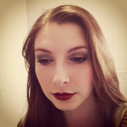 Got bored and did my make up! Now for studying… :/ (Taken with Instagram)
