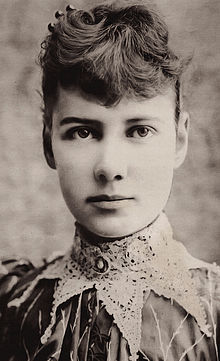 "fuckyeahhistorycrushes:  Things most people know about Nellie Bly: She has a funny name. Things I love about Nellie Bly: She went to Mexico to report on the people and their customs when she was 21. Twenty-one. That's younger than me and probably younger than you and she went to rural Mexico in 1885 to do this shit for six months. And this was a time when women did the fashion pages for the papers and not much else. Then she went to New York because she was bored and pretended to be mad to get into a brutal women's asylum so she could report from the inside. That's some hardcore journalism in a time when conditions in those sorts of places were appalling.  ""My teeth chattered and my limbs were …numb with cold. Suddenly, I got three buckets of ice-cold water…one in my eyes, nose and mouth."" Then in 1888, presumably just to annoy Jules Verne, she went around the world. In 72 days. And had a stop over in France to meet Verne and presumably flip him the bird.  Then she married a millionaire. You literally couldn't make this stuff up.  And then…just to confirm her position as a hardcore badass, she reported on the front. And not the Western Front, the Eastern front, where people were sent for ballsing up.  In short, Nellie Bly is more awesome and hardcore than anyone could hope to be. Plus she's pretty. And she has the same lame bangs as Sarah O'Brien and I wuv her too."
