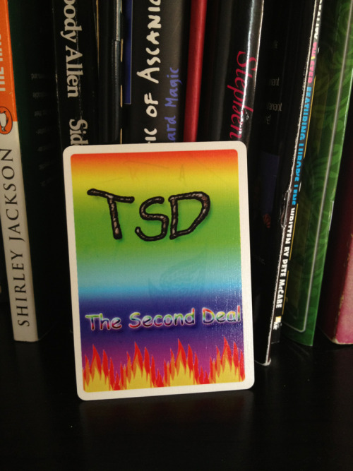 thebottompalm:  Courtesy of Zach Lambert, a card from Tyler Wilson's proposed design for a TSD deck. Truly a prized possession.  Why am I thinking LSD?