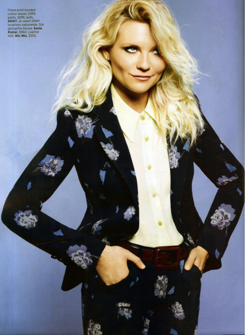 dknyprgirl:  Kirsten Dunst rocks #DKNY in #Elle. Flower power.