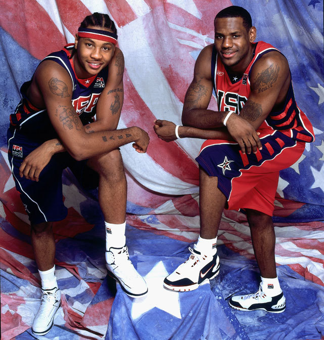 LeBron James and Carmelo Anthony pose during Media Day before the 2004 Olympics. The squad ended up going 5-3 in Athens, the low point of a once-dominant squad. After the Games, the U.S. hired Duke coach Mike Krzyzewski to run the team. Since then, the team has been nearly unbeatable. (Nathaniel S. Butler/Getty Images) GALLERY: Rare Photos of LeBron James | Carmelo Anthony | Historic Team USA