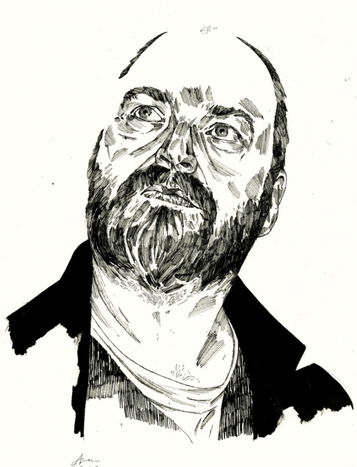 One of two drawings I did of Dave McKean for a commission.
