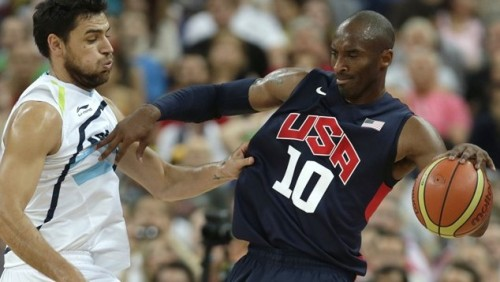 Kobe and team U.S.A. brush off Argentina 109-83. They will meet Pau, Marc, Jose, Rudy and the rest of the Spaniards on Sunday at 10:00AM EST in the gold-medal game. Image Source: nbc.com Nathan, CanadianCardboard