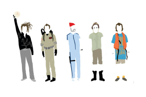 A Group Rabble Flock Herd Pride Murder of Murrays. Bill Murray illustrated by Justin Claus Harder :: via society6.com