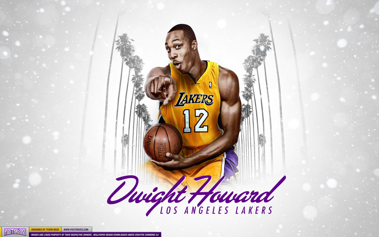 The un-official showtime Dwight Howard LA Lakers Wallpaper.Source: Posterizes.com