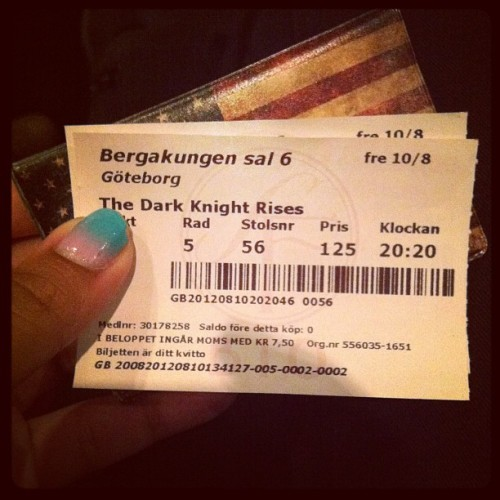 #thedarkknightrises#batman#cinema#bergakungen#gothenburg#sweden#2012 (Taken with Instagram)