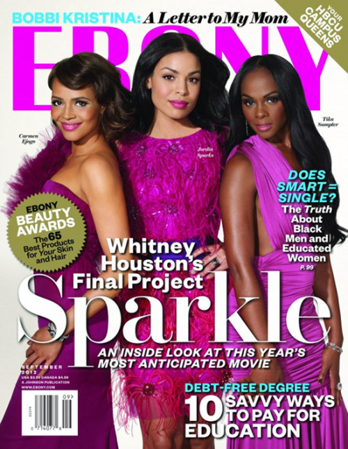 fuckyeahfamousblackgirls:  Carmen Ejogo, Jordin Sparks & Tika Sumpter cover the September issue of Ebony Magazine