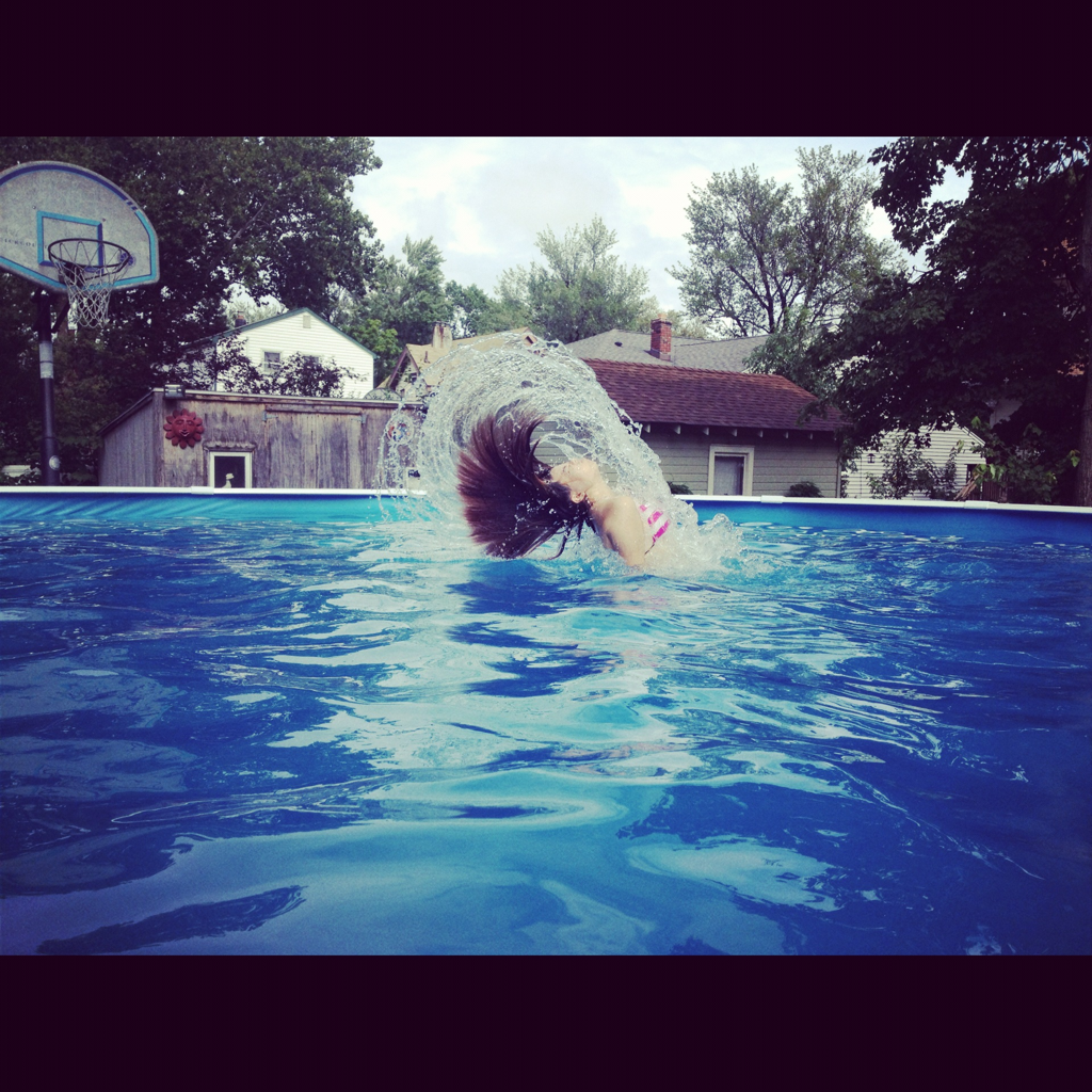 #mermaid #pool #hairflip