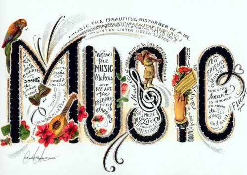 Music, the beautiful disturber of air.