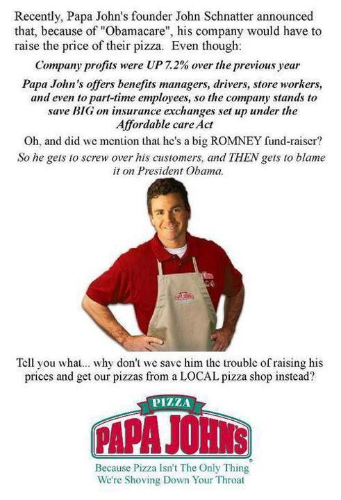 Papa John's has his shit all fucked up……