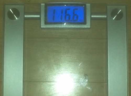 Today's Weight: 116.6 lbs.Total Lost: 21.0 lbsAt the work weigh in, I was in my bathing suit and I went down to 116.2 lbs, but this is the best I ever could've expected. I ate a little bit of sushi for lunch and I already feel like I need to go run it off. There's no way I'm going to let myself get back to where I was. I'm only going to get better and better from here on out. This competition has taught me so much. I love my new body and love that I know what I can do with it now. I couldn't be happier. :)