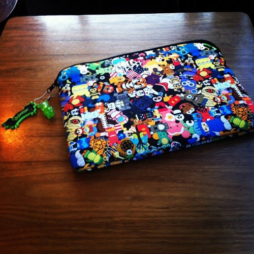 I love my Disney Vinylmation macbook case. (Taken with Instagram)