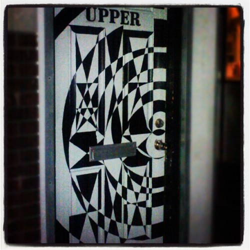 #Ill-ass #door on Main St. #trippy #cool #blackandwhite #geometric #crazy #thingsidiscoverwhileadventuring #wow (Taken with Instagram)