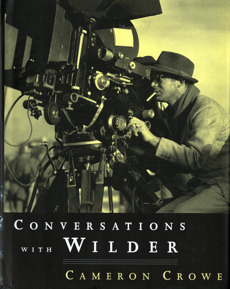 "austinkleon:  Conversations With Wilder by Cameron Crowe  In between Jerry Maguire and Almost Famous, Cameron Crowe spent a year interviewing his hero, the director Billy Wilder, about Wilder's body of work. Crowe was just peaking and Wilder was retired and starting his nineties. The book chronicles their conversations and is full of hundreds beautiful black and white photos from his films and his life.  Some of my favorite Wilderisms:  ""If you have a problem in the third act, the real problem is in the first act."" ""The one thing that keeps me alive is curiosity."" ""The real humorist is always sad."" ""It's easy to talk, it's difficult to write."" ""There's no ""Wilderesque."" It's just stuff."" ""You bring your sensibility and hope that people will show up."" If you like Wilder's movies, it's a good read. (If you don't like his movies, what's wrong with you?)  Thanks to my friend James for the recommendation.  Filed under: my reading year 2012"