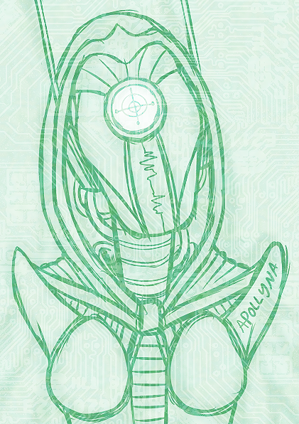 "robut tittyes WIP of number two, ""Robot / Tentacles"" from the [Combo Monster / Guro Challenge]."