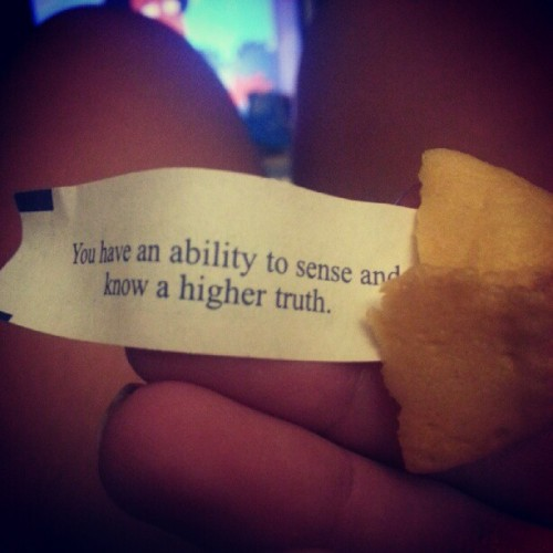 #fortunecookie #truth (Taken with Instagram)