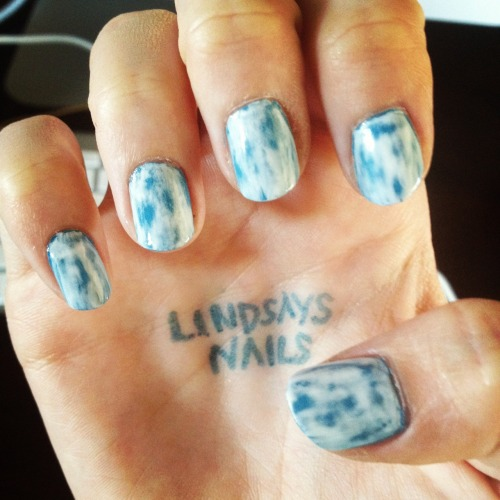Acid Wash Denim Nails!